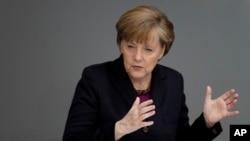 Kanselir Jerman Angela Merkel di Berlin (20/3).