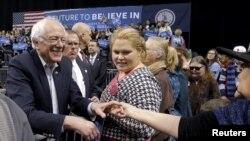 ABŞ prezident seçkilərində demokrat namizəd Berni Sanders