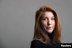 "FILE - Swedish journalist Kim Wall was reporting on the submarine ""UC3 Nautilus"" when she disappeared."