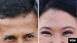 Las últimas encuestas presentan un empate técnico entre el izquierdista Ollanta Humala y la derechista Keiko Fujimori.