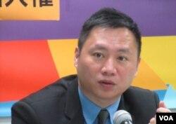 原六四学生领袖王丹 (美国之音 张佩芝拍摄)