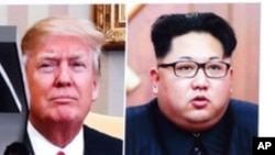 အေမရိကန္သမၼတ Donald Trump နဲ႔ ေျမာက္ကိုရီးယားေခါင္းေဆာင္ Kim Jong Un