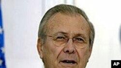 美国前国防部长拉姆斯菲尔德(档案照)