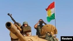 庫爾德士兵在伊拉克境內對抗伊斯蘭國