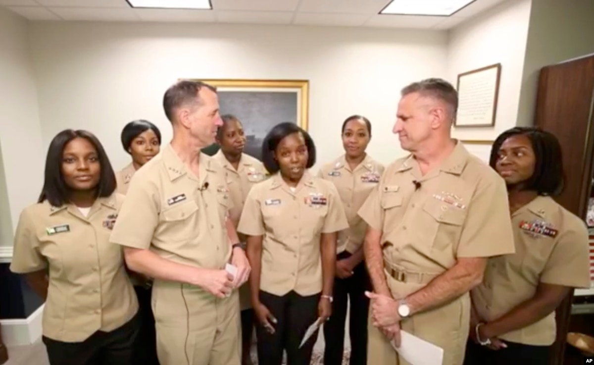 us navy gives women permission to let their hair down