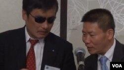 流亡美國的盲人法律維權人士陳光誠和傅希秋牧師