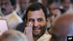 Pemimpin Partai Kongres Rahul Gandhi dalam upacara pelantikan menteri-menteri kabinet yang baru. (Foto: Dok)