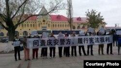 各地访民前往庆安县要求公布徐纯合案真相(博讯图片)