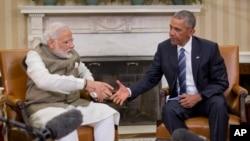 美国总统奥巴马与印度总理莫迪6月7日在白宫会晤