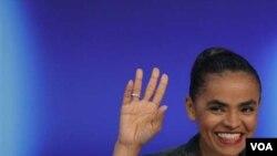 La candidata presidencial del Partido Verde, la ex ministra de Medio Ambiente, Marina Silva, logró un sorprendente 20% de los votos.