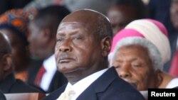 Le président ougandais Yoweri Museveni, candidat à sa réélection
