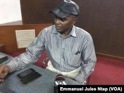 Sosthène Médard Lipot, du MRC, au Cameroun (UPC), le 19 février 2018. (VOA/Emmanuel Jules Ntap)
