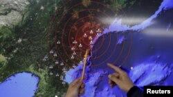 朝鲜的氢弹试验。