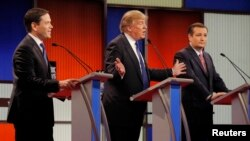 Marco Rubio, Donald Trump ve Ted Cruz