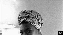 Maya Angelou, enzi za uhai wake. Picha imepigwa November 3, 1971.
