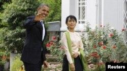 صدر اوباما اور آنگ سان سوچی