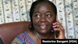 Nestorine Sangaré, ancienne ministre du gouvernement compaoré. (VOA/Zoumana Wonogo)