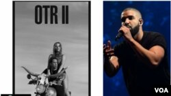Top Ten Americano: Bilhetes para Digressão de Beyoncé e Jay Z vai até $10 mil; Drake é Boss!