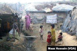 FILE - Rohingyas who fled Myanmar over the past decades live in this decrepit Kutupalong illegal Rohingya refugee colony in Cox's Bazar district, Bangladesh.