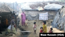Rohingyas who fled Myanmar over the past decades live in this decrepit Kutupalong illegal Rohingya refugee colony in Cox's Bazar district, Bangladesh. Bangladesh stopping registering the Rohingya refugees in 1992, and now almost 90 percent of Bangladesh's