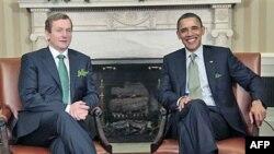 Američki predsednik Obama i premijer Irske Enda Keni tradicionalno se sastali na Dan svetog Patrika, 17. mart 2011.