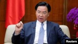资料照:台湾外交部长吴钊燮