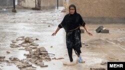 سیل در لامرد استان فارس