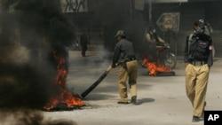 파키스탄 쿠에타 버스 피격현장