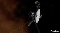 Gambar ilustrasi pesawat antariksa NASA, Voyager 1, yang diluncurkan pada 5 September 1977 atau 40 tahun yang lalu.