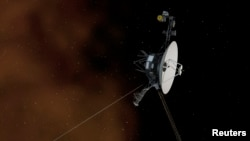 This conception of the non-realized artist depicts the NASA Voyager 1 spacecraft entering the interstellar space, or the space between the stars. According to a NASA statement, the Voyager 1 spacecraft is officially the first human-created object to enter the interstellar space.