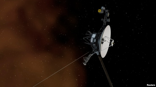 This undated artist's concept depicts NASA's Voyager 1 spacecraft entering interstellar space, or the space between stars. Voyager 1 spacecraft was officially the first human-made object to venture into interstellar space, according to a NASA statement.