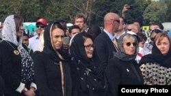 PM Selandia Baru Jacinda Ardern menghadiri peringatan satu minggu serangan terhadap masjid di Christchurch, Jumat 22/3 (Foto: Courtesy).