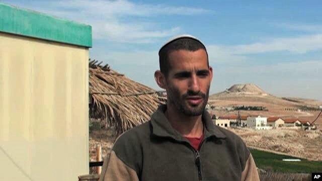 Jewish settler Amitai Sharon in Tekai