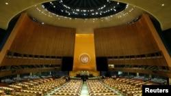 La salle de l'ONU, à New York, le 17 septembre 2017.