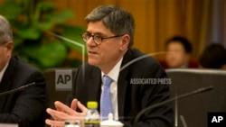 美國財政部長傑克盧(資料圖片)