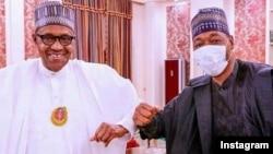 Buhari (hagu) da gwamna Zulum (dama) (Instagram/Babagana Zulum
