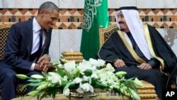 Барак Обама і король Саудівської Аравії Салмон. 27 січня, Ер-Ріяд.