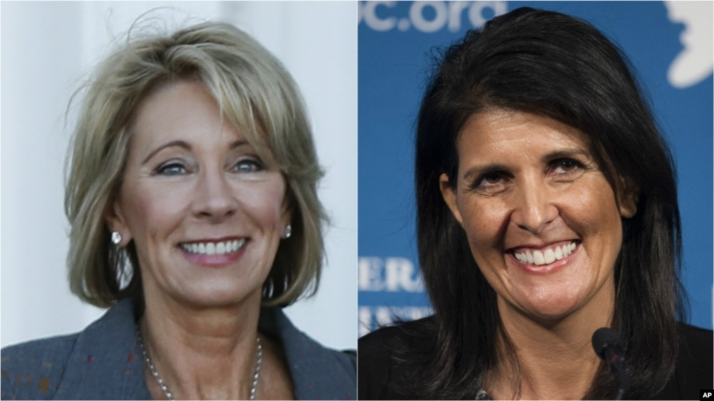 Trump Names 2 Women to Cabinet, a Governor and Charter School Advocate