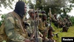 Des soldats congolais près de Bunagana, au nord de Goma, 1er novembre, 2013.