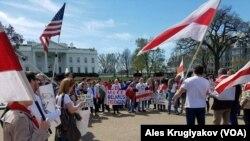 Belarus expats protesting Minsk arrests