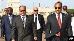 Le président mauritanien Mohamed Ould Abdel Aziz à l'aéroport de Nouackchott