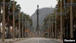 El Paseo de Colón en Barcelona