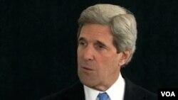 ທ່ານ John Kerry ລັດຖະມົນຕີການຕ່າງ ປະເທດສະຫະລັດ ທີ່ອອກສານຖະແຫລງຂ່າວ ສົ່ງຄໍາອວຍພອນໄຊ ເຖິງປະຊາຊົນລາວ ທົ່ວປະເທດ.