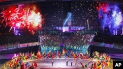 深圳大運會八月十二日的開幕情形 (資料圖片)