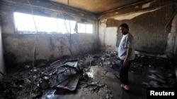 Las instalaciones de la embajada de EE.UU. en Bengasi, en donde murió el embajador estadounidense Christopher Stevens, quedaron completamente destruidas luego del ataque del 11 de septiembre de 2012 que el Congreso investiga.