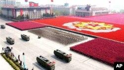 Военный парад в Пхеньяне. 25 апреля 2007 г.
