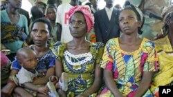 Baadhi ya wanawake kutoka mashariki mwa Jamhuri ya Kidemokrasi ya Congo-DRC, nchi ambayo wanawake wengi ni waathirika wa ubakaji.