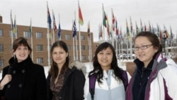 Foreign students at Dickinson State University in Dickinson, North Dakota, in 2008