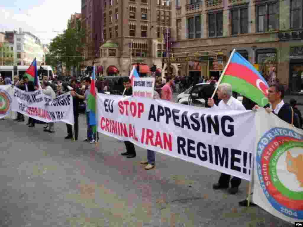 GAİP fəalları Avropa şəhərlərində İran rejiminə qarşı nümayiş keçirir