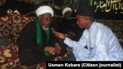 Le leader chiite Ibrahim Zakzaky, chef nigérian du groupe chiite Mouvement islamique du Nigeria.